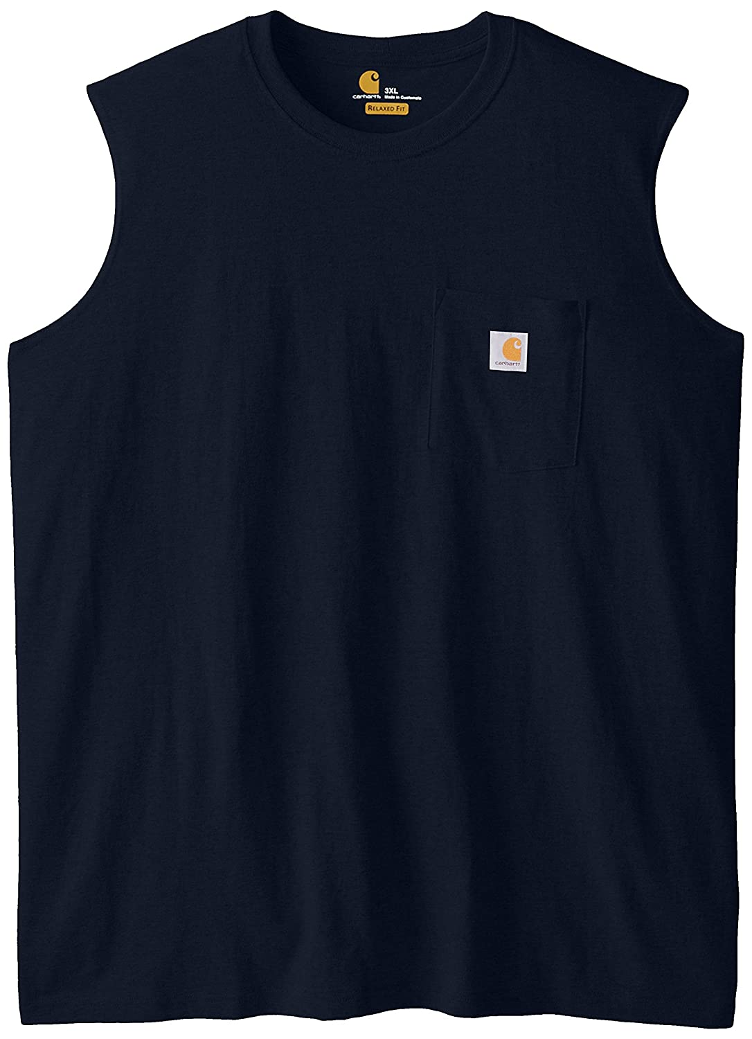 Carhartt Men's Big & Tall Workwear Pocket Sleeveless Midweight T-Shirt Relaxed Fit Carhartt Sportswear - Mens 100374