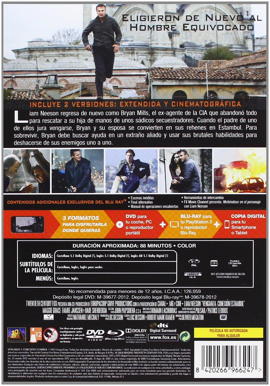 Amazon.com: Venganza 2: Conexión Estambul (Dvd + Bd + Copia Digital) (Import Movie) (European Format - Zone 2) (2013) Liam N: Movies & TV