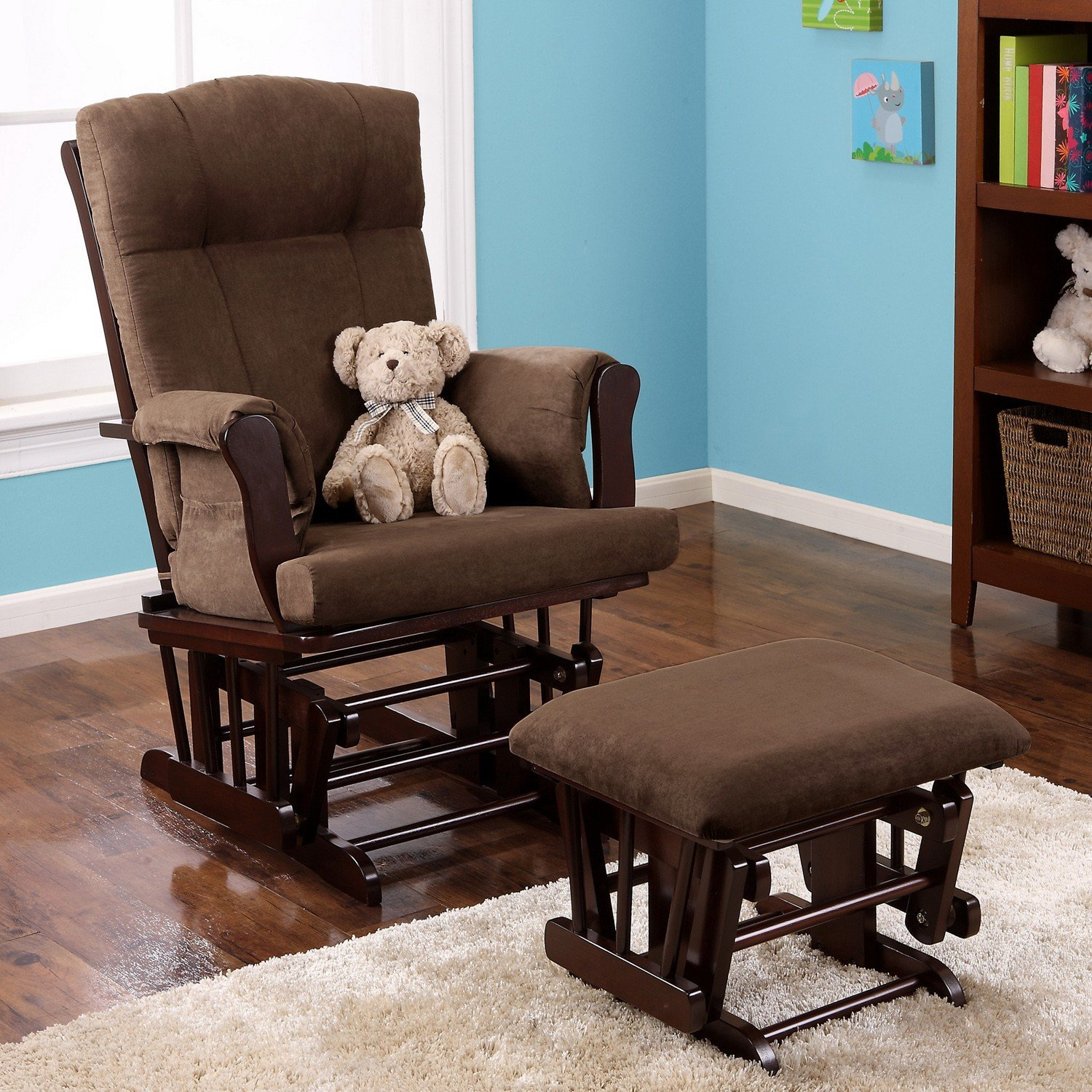 Amazon Baby Relax Glider and Ottoman Espresso Baby