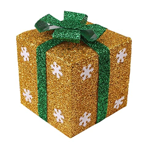 christmas gift boxes best decorative snowflake box different colors for display or presents yellow