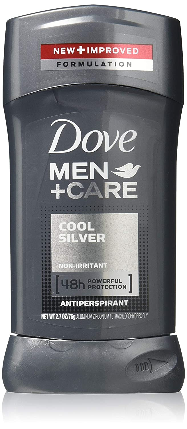 Dove Men + Care Antiperspirant, Cool Silver 2.70 oz (Pack of 4)