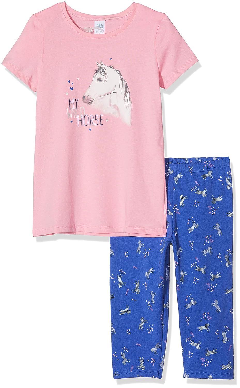 Schiesser Schlafanzug Mädchen kurz Pferd Baumwolle Single Jersey Sommer NEU