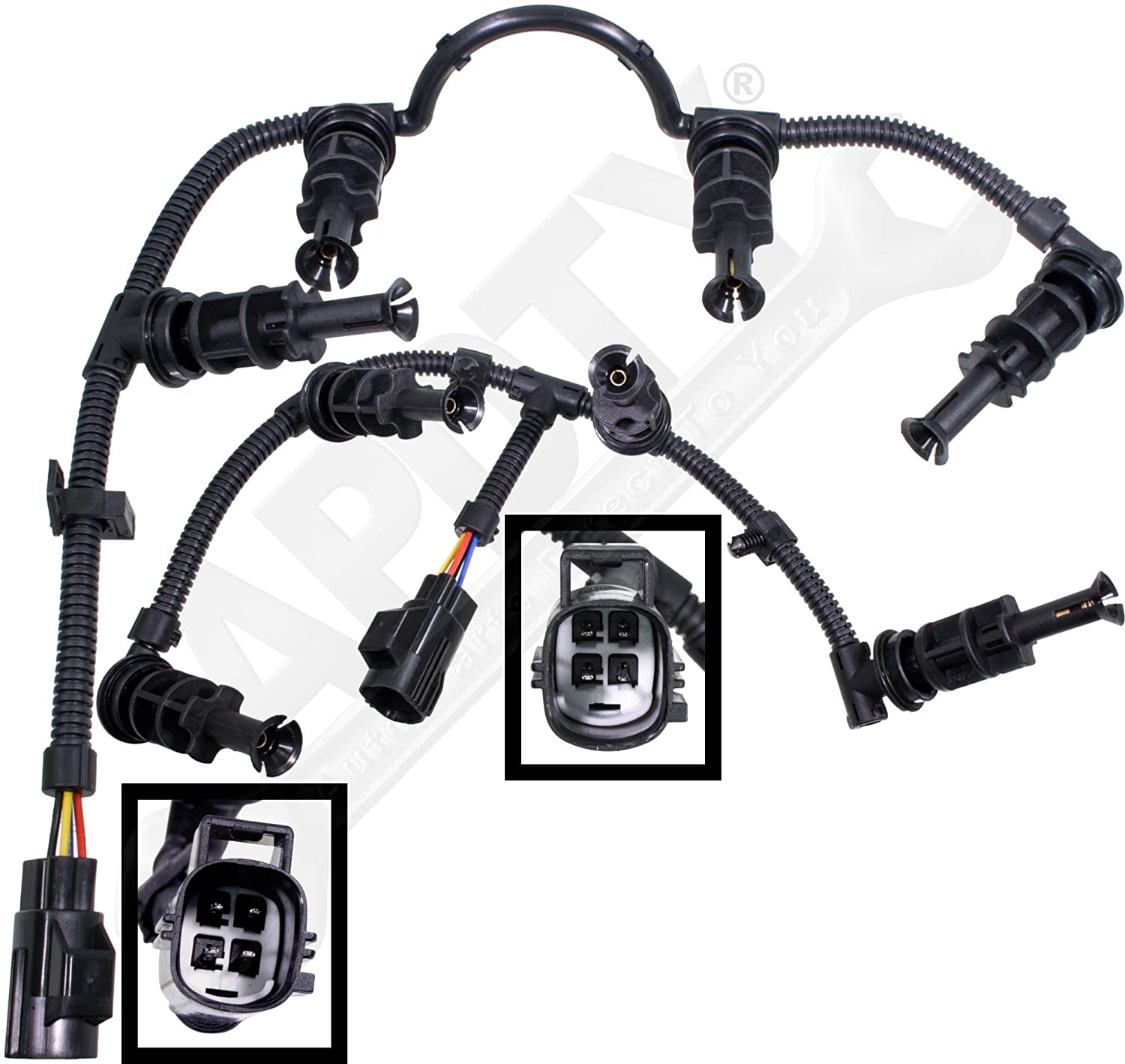 Apdty 035419 Trailer Wiring Harness Plug Connector Fits 1997 2010 7 Pin Ford Truck