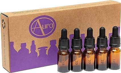 Pack de 5 botellas para aceites esenciales/aromaterapia - Con ...