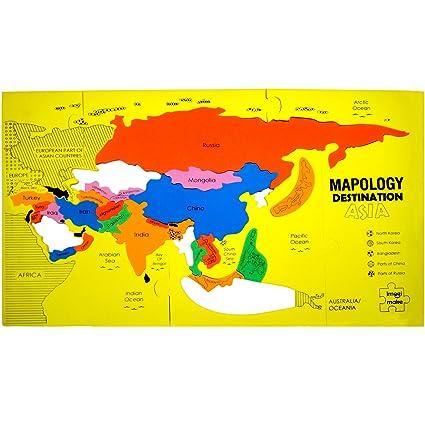 Buy imagimake mapology destination asia map puzzle multi color imagimake mapology destination asia map puzzle multi color gumiabroncs Choice Image