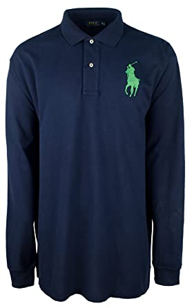 vast selection quality quality products Polo Ralph Lauren Men's Big and Tall Big Pony Cotton Polo Shirt Long Sleeve  Pique Mesh