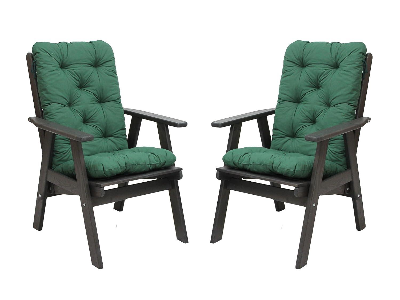 2er set hochlehner grau inklusive auflagen gr n varberg gartenstuhl holzstuhl angebot g nstig. Black Bedroom Furniture Sets. Home Design Ideas