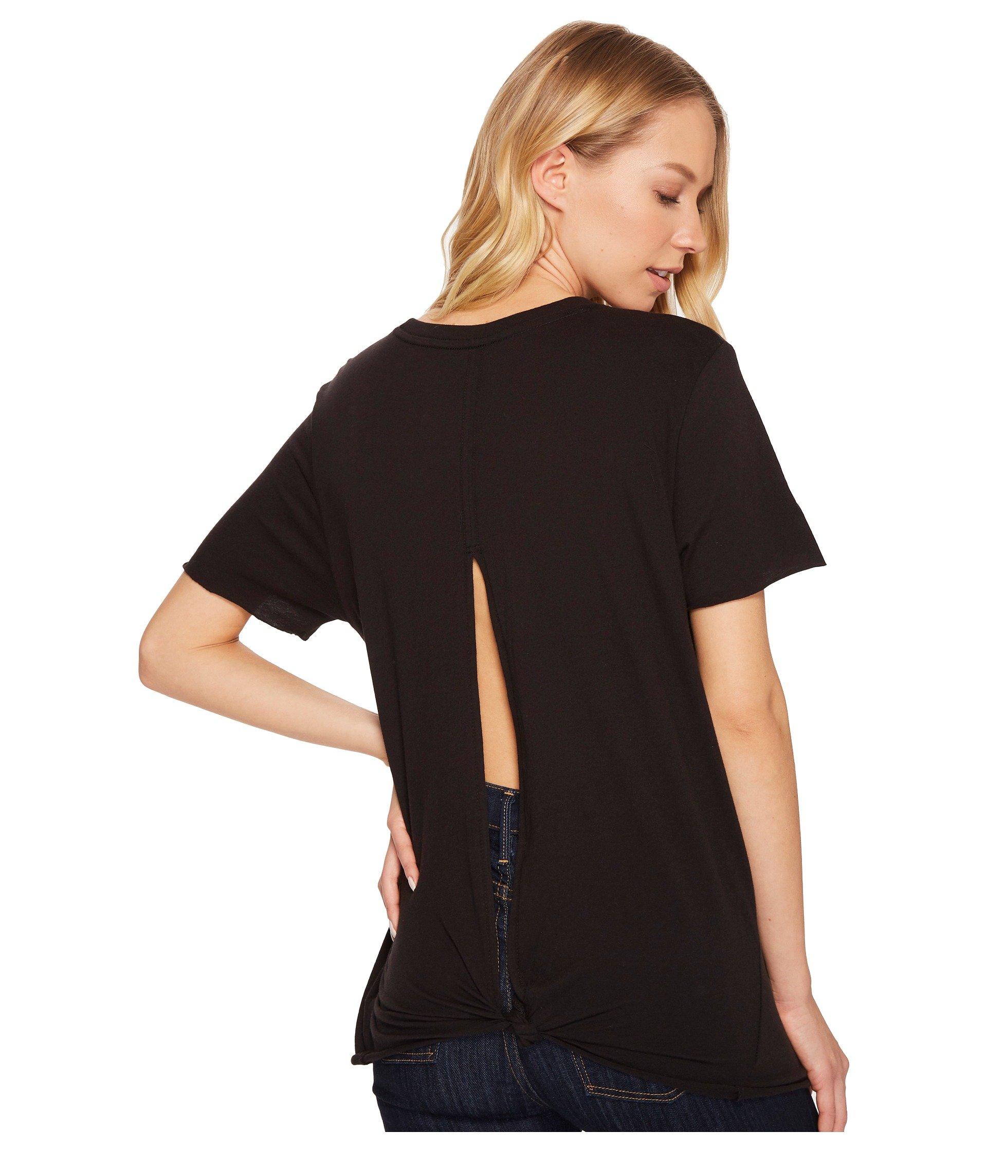 Hurley Women's Cutback Crew Short Sleeve Shirt Black Large