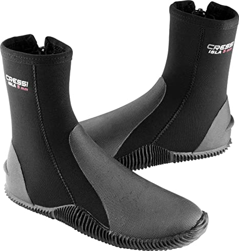 Cressi Tall Neoprene Boots for Snorkeling, Scuba Diving, Canyoning,  Available in Neoprene 5 & 7 mm | Isla: Designed in Italy