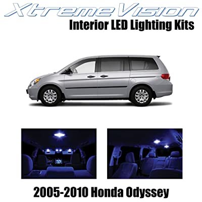 XtremeVision Interior LED for Honda Odyssey 2005-2010 (11 Pieces) Blue Interior LED Kit + Installation Tool: Automotive