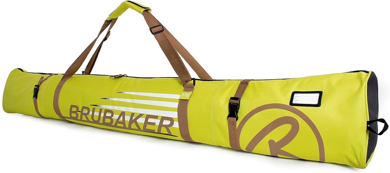 BRUBAKER Ski Bag for 1 Pair of Skis and Poles or 74 3//4 - Black//Golden Available in 66 7//8 190 cm 170 cm