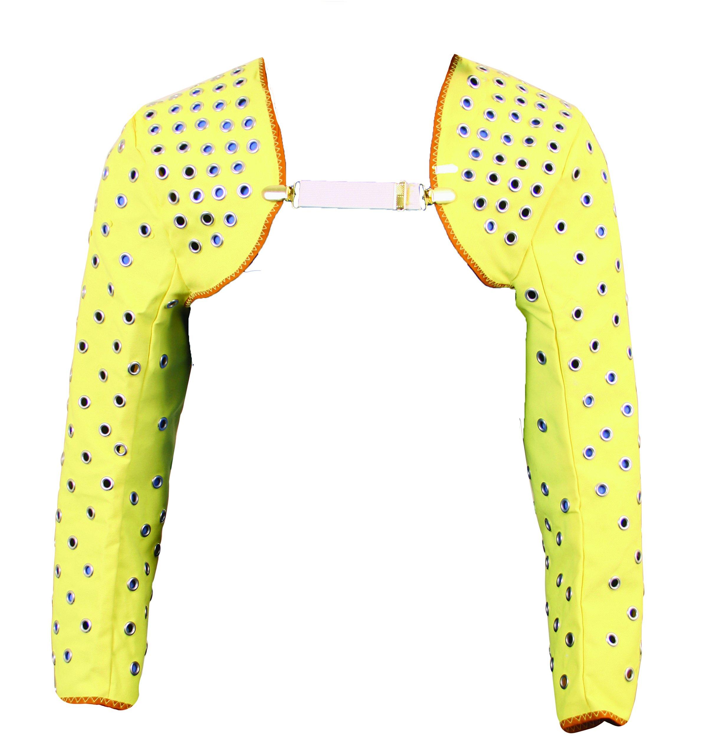 National Safety Apparel  S30KV27 Eyeleted Kevlar Twill Shoulder Cap Sleeve, 27'', Yellow