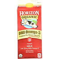 Horizon Organic, Whole Milk with DHA Omega-3, Ultra Pasteurized, Half Gallon 64 oz