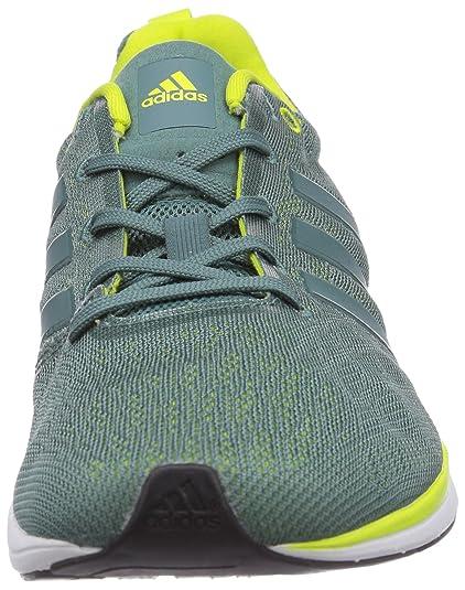 big sale 22739 4eed9 adidas Performance - AdiZero Feather 4, Scarpe da corsa da uomo, Verde  (Greenwhite), 42.6666666667 Amazon.it Scarpe e borse