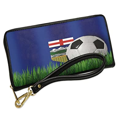 Image Unavailable. Image not available for. Color  Wallet Clutch Soccer  Team Flag Alberta ... ebf69c8209