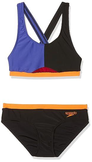 c3932bc62d2 Speedo Womens' Hydractive Swimsuit (Pack of 2), Multicoloured  (Black/Ultramarine