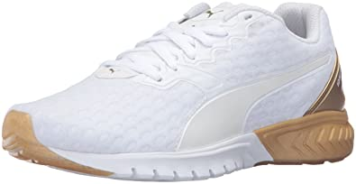 PUMA Womens Ignite Dual Gold Wns Running Shoe       White Gold