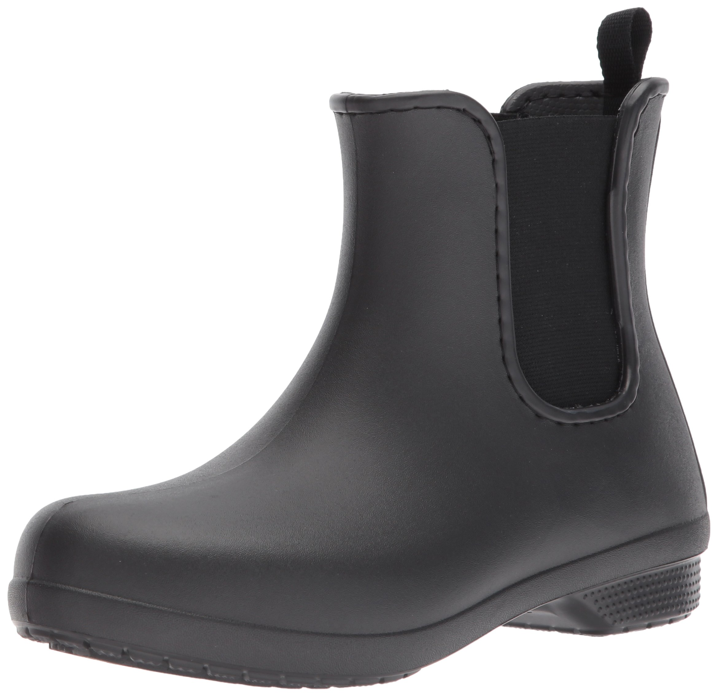 Crocs Women's Freesail Chelsea Rain Boot, Black/Black, 11 M US