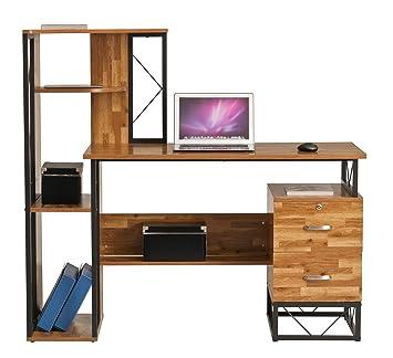 Amazonde Tajir Furniture Computer Schreibtisch Mit Regal