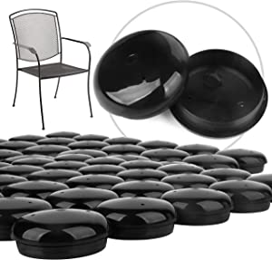 "32 Pack 1-1.5"" Patio Furniture Glides/Feet/Caps for Wrought Iron Outdoor Furniture – Protect Your Floor Surfaces from Scratches, Replacement for Eight Chairs (with 4 Legs), Easy to Install Impresa"