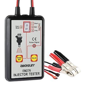 Inyector comprobador EM276 de coche con un sistema de inyector de combustible Analyzerl con 4 modos Pluse Universal de comprobación de combustible: ...