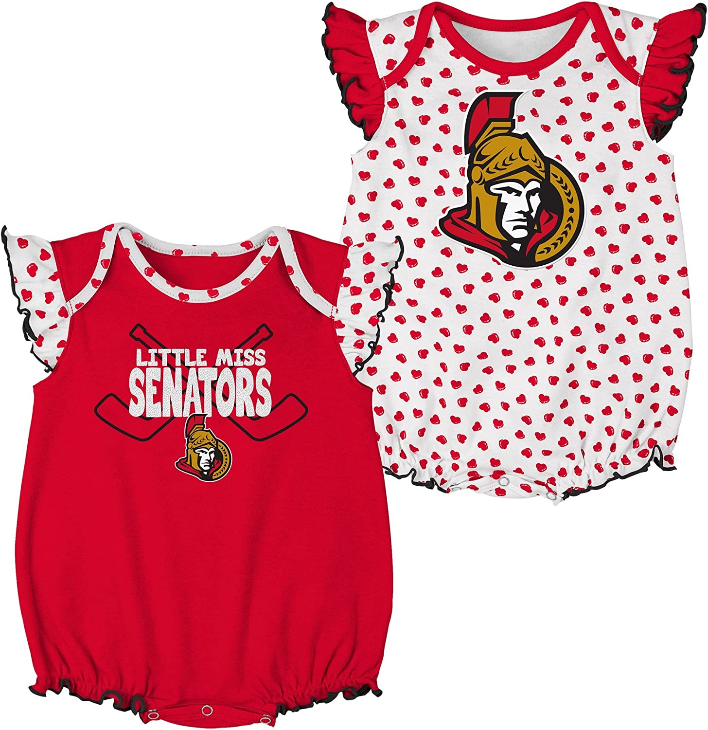 Baby Girl Bodysuits Love Heart Hockey Baby Rompers