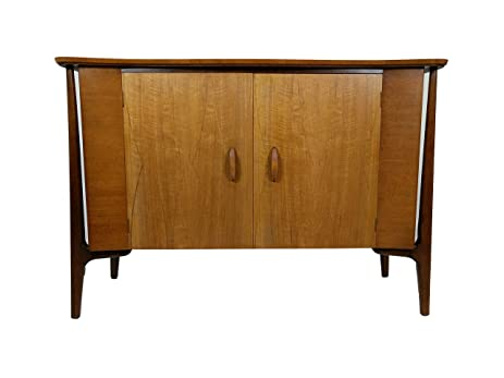 Amazon.com: Mid Century Modern credenza with floating cabinet & side on floating tv stand modern, floating shelves modern, floating desk modern,