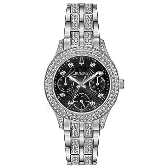 35308462c6e Bulova Women s Swarovski Crystal Quartz Watch with Stainless-Steel Strap