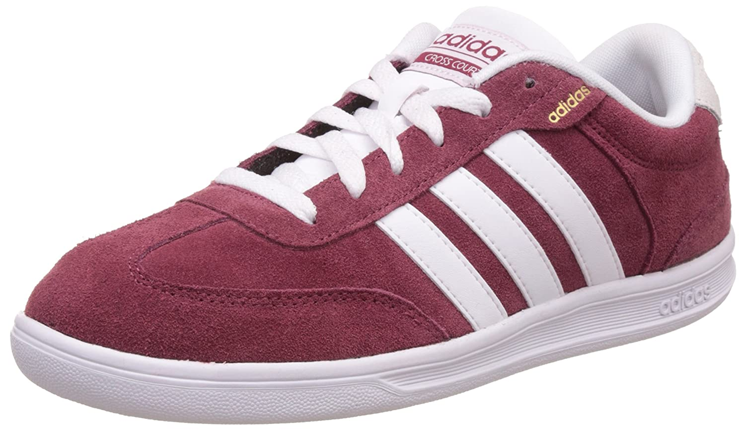 Buy Adidas neo Men's Cross Court Cburgu, Ftwwht and Magold Leather ...