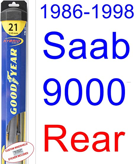 1986 – 1998 Saab 9000 hoja de limpiaparabrisas de repuesto Set/Kit (Goodyear limpiaparabrisas