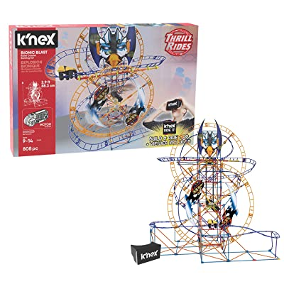 K'NEX Thrill Rides – Bionic Blast Roller Coaster Building Set with Ride It! App – 809Piece – Ages 9+ Building Set: Toys & Games