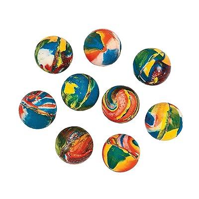 Fun Express - Swirl Bouncing Balls - Toys - Balls - Bouncing Balls - 144 Pieces: Toys & Games