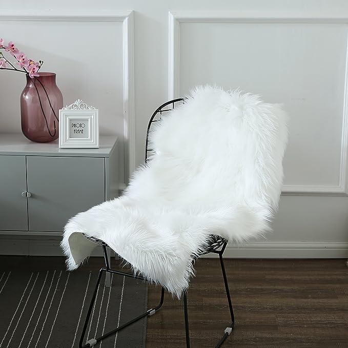 Amazon.com: Sunmoon lujosa de piel de oveja de piel ...