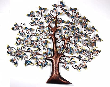 03be96d280 Buy Shivay Arts Contemporary Metal Tree Wall Decor/ Wall Hanging Online at  Low Prices in India - Amazon.in