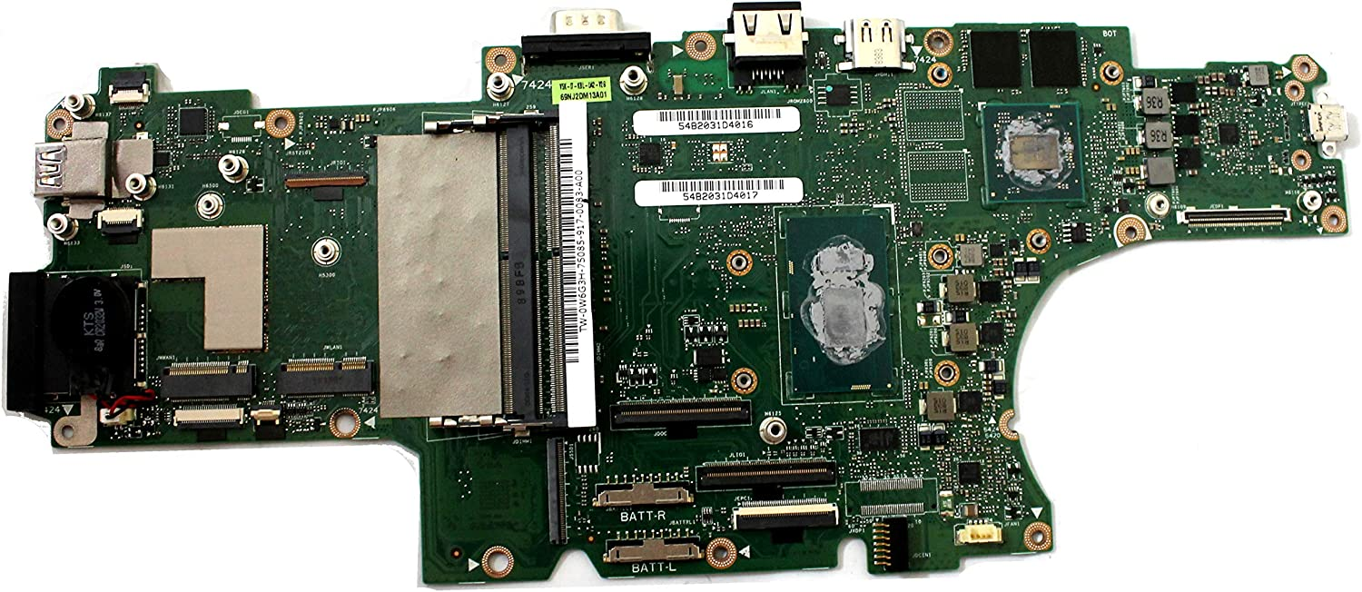 W6G3H Dell Latitude 5420 Rugged Motherboard with Intel Core i7-8650u CPU