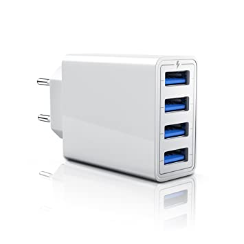 CSL-Computer 5A Cargador de Red Móvil USB 4 Puertos: Amazon ...