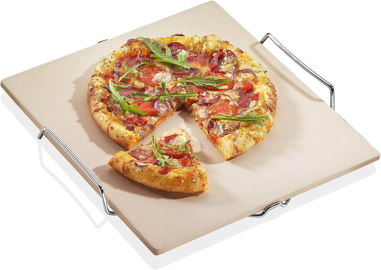 Küchenprofi 1086000000 - Piedra para Pizza con Base (38 x 35 cm, 5 x1 cm)