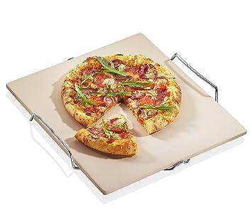 Küchenprofi 1086000000 - Piedra para Pizza con Base (38 x 35 cm, 5 ...