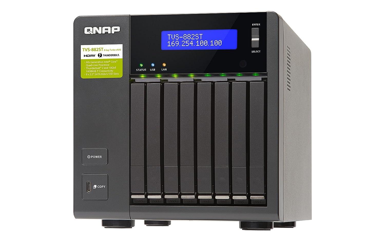 QNAP TVS-882ST2 NAS Escritorio Ethernet Negro - Unidad Raid (Unidad de Disco Duro, SSD, Serial ATA III, 2.5