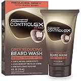 Just For Men Control GX Grey Reducing Beard Wash Shampoo, Gradually Colors Mustache and Beard, Leaves Facial Hair Softer and