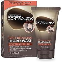 Just For Men Control GX Grey Reducing Beard Wash Shampoo, Gradually Colors Mustache and Beard, Leaves Facial Hair Softer…