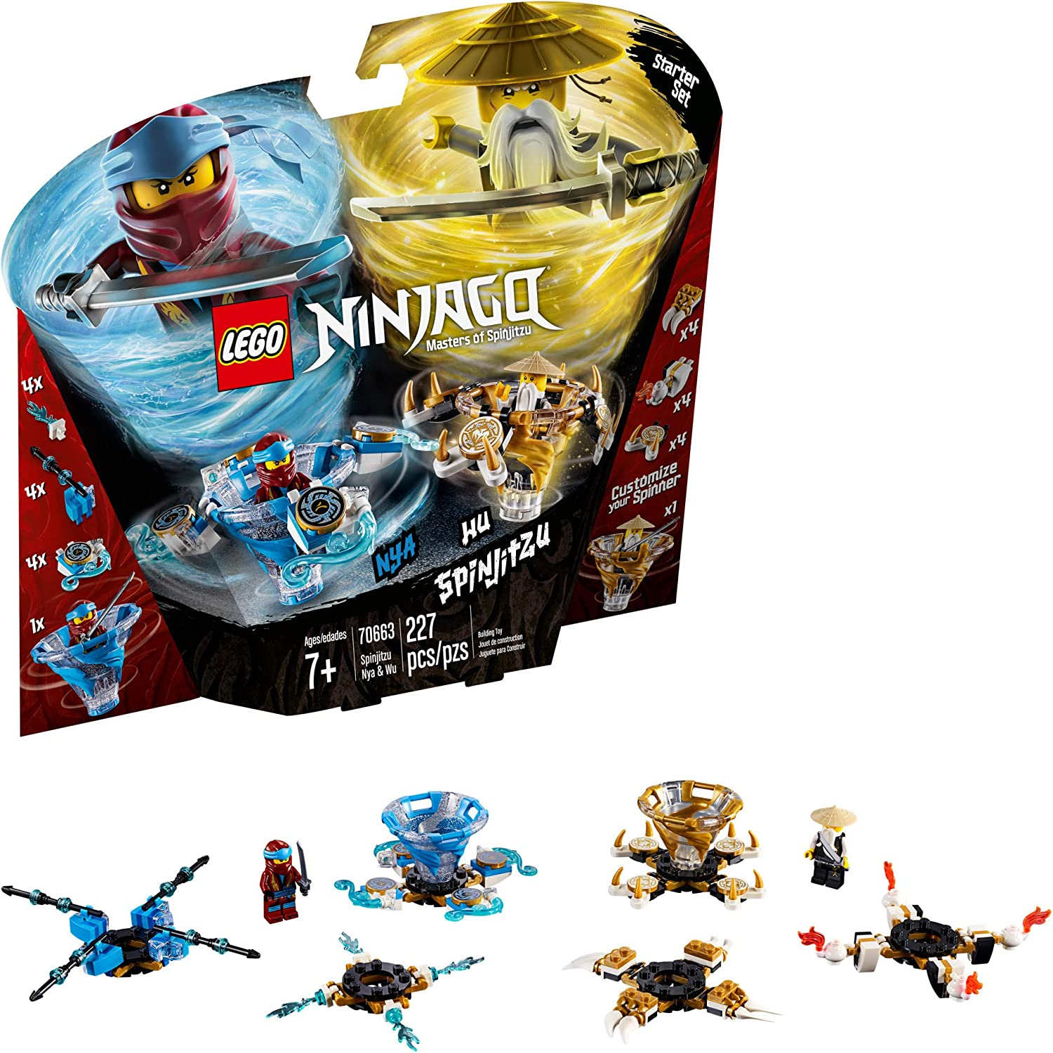 LEGO NINJAGO Spinjitzu Nya & Wu 70663 Building Kit, 2019 (227 Pieces)
