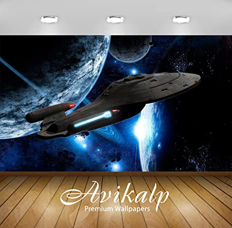 Buy Avikalp Exclusive Awi3185 Uss Voyager Spaceship Full Hd