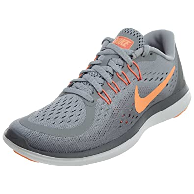 best sneakers b74ea df8b5 Amazon.com   Nike Flex RN 2017 Wolf Grey Sunset Glow Cool Grey Women s  Running Shoes   Road Running