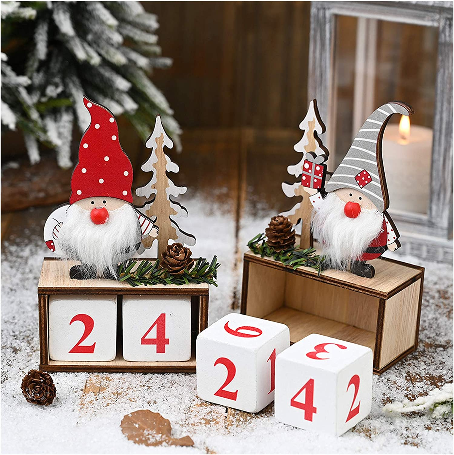 Christmas Gnome Countdown Blocks