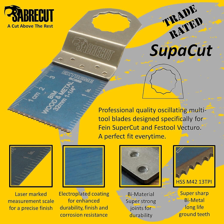10x Sabrecut Sck10bm bi-métal Lames pour Fein Supercut et Festool Vecturo Out