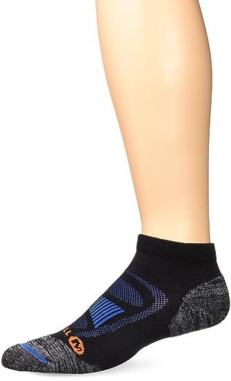 96332310c99 Merrell Men's Zoned Low Cut Light Hiker Sock, black Shoe Size: 9.5-12