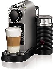 Nespresso Intenso Krups Citiz Milk XN760B Cafetera monodosis de 19 bares con aeroccino integrado y bandeja extraíble, color titán