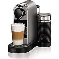 Krups Nespresso Citiz Milk XN760B - Cafetera monodosis de 19 bares, aeroccino integrado y bandeja extraíble, color titán