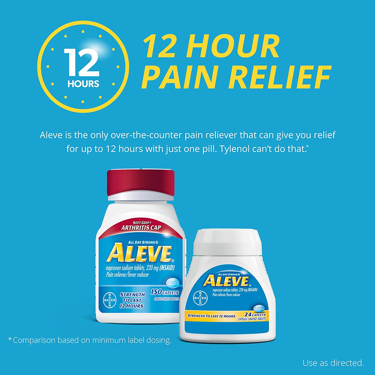 Amazon Aleve Caplets With Naproxen Sodium 220mg Nsaid Pain